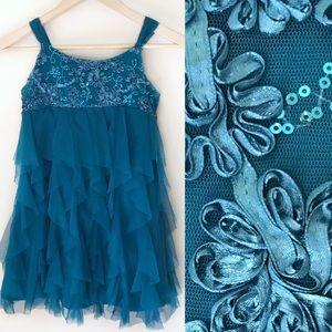 Girls Biscotti Ruffle Dress
